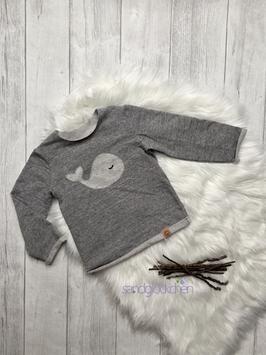 "Pullover ""kleiner Wal"" grau - Gr. 92"