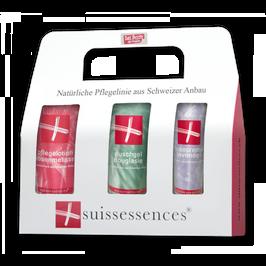 Duschgel Douglasie / Pflegelotion Rosenmelisse / Fusscreme Lavendel