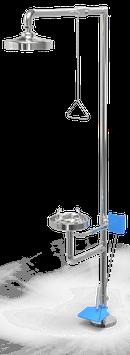 GC-120-DP Regadera de emergencia mixta de acero inoxidable con pedal