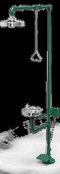 GC-110-CP Regadera de emergencia mixta galvanizada con pedal