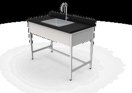 ML 1260 MEL  Mesa de laboratorio para lavado
