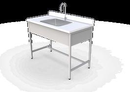 ML 1260 LPL  Mesa de laboratorio para lavado