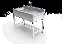 ML 1260 INOX  Mesa de laboratorio para lavado