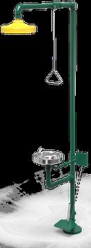 GC-113-CP Regadera de emergencia mixta galvanizada con pedal