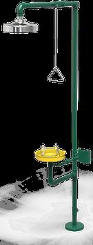 GC-111-D Regadera de emergencia mixta galvanizada