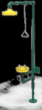 GC-112-D Regadera de emergencia mixta galvanizada