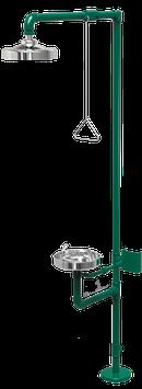 GC-110-C Regadera de emergencia mixta galvanizada