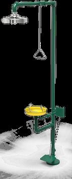 GC-111-CP Regadera de emergencia mixta galvanizada con pedal