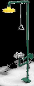 GC-113-DP Regadera de emergencia mixta galvanizada con pedal
