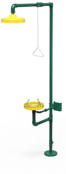 GC-113-D Regadera de emergencia mixta galvanizada