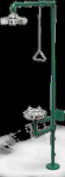 GC-110-D Regadera de emergencia mixta galvanizada