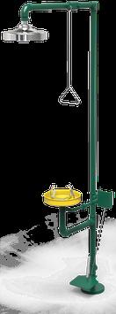 GC-111-DP Regadera de emergencia mixta galvanizada con pedal