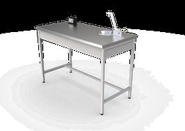 MP 12060 INOX  Mesa de laboratorio para profesor
