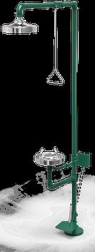 GC-110-DP Regadera de emergencia mixta galvanizada con pedal
