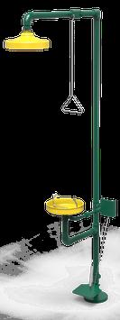 GC-112-DP Regadera de emergencia mixta galvanizada con pedal