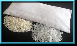 Inlay mit Bergkristall und Reis