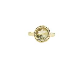 """Klassischer Ring mit eine Lemonquarz """"SAMBA - LEMON"""""""