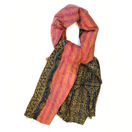"""Silk Kantha Scarf/Fabric """"CALCUTTA"""""""