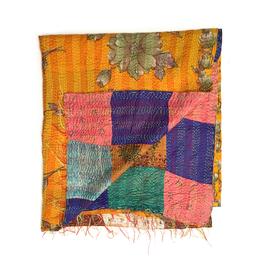 "Silk Kantha Scarf/Fabric ""ULUBERIA"""