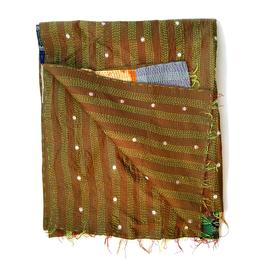 "Silk Kantha Scarf/Fabric  ""BANKURA"""