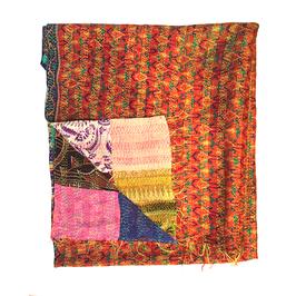 """Silk Kantha Scarf/Fabric """"DAKSHIN"""""""