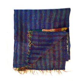 "Silk Kantha Scarf/Fabric  ""KUSHER"""