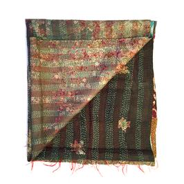"Silk Kantha Scarf/Fabric  ""BAGULA"""