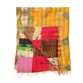 "Silk Kantha Scarf/Fabric ""ARAMBAG"""
