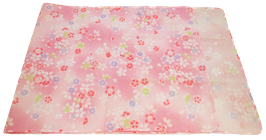 Tenugui Fleurs de sakura sur fond rose