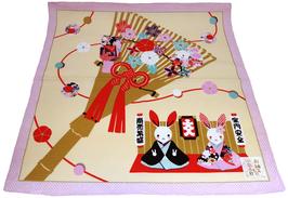 """Furoshiki Couple de lapins porte-bonheur pour le """"commerce"""" et la """"protection du foyer"""""""