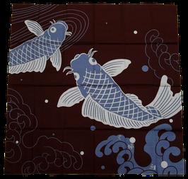 Grand Furoshiki Carpes et Vagues