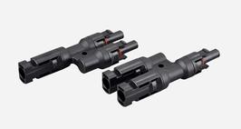 1 Paar MC4 Verteiler 2-Fach (Stecker Buchse Adapter 2/1)