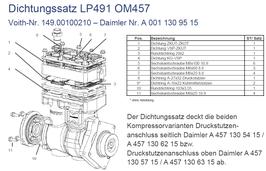 A0011309515 Dichtungssatz LP491 / LP490 OM457