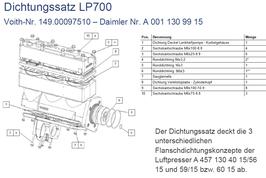 A0011309915 Dichtungssatz LP700 für Luftpresser mit herausnehmbaren Laufbuchsen