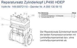 A0001305915 Reparatursatz Zylinderkopf LP490 HDEP