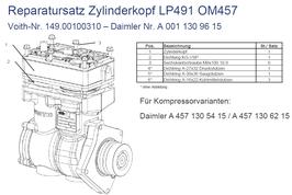 A0011309615 Reparatursatz Zylinderkopf LP491 OM457