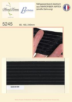 Nähgassenband elastisch, aus MIKROFIBER AIRTEX (mittlere Dehnung)