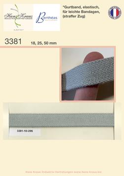 Gurtband, elastisch, für leichte Bandagen, (straffer Zug)