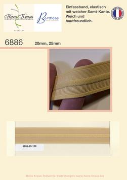 Einfassband, elastisch mit weicher Samt-Kante.Weich und hautfreundlich.