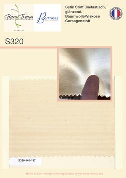 Satin Stoff glänzend (Baumwolle,  Viscose) 140 cm