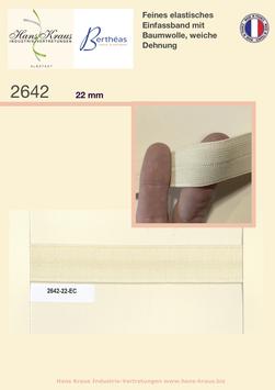 Feines Baumwollband, Einfassband, Falzband elastisch