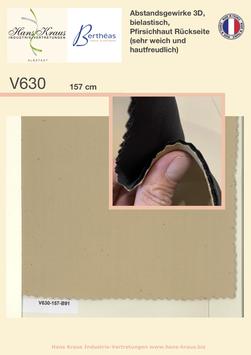 Abstandsgewirke 3D, bielastisch, Pfirsichhaut Rückseite (sehr weich)