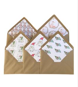 Set/5 bijpassende kerst envelop