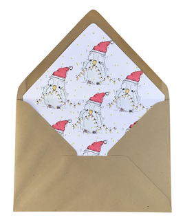 Matching envelop Sending X-mas lights