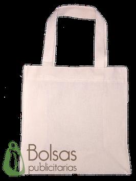 BOLSA DE MANTA #4 CON FUELLE  /  COLOR NATURAL