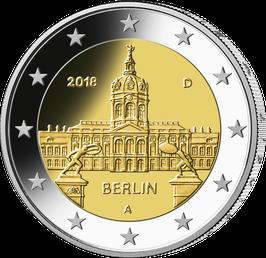 """2-Euro-Münze 2018 """"Berlin"""" Spiegelglanz Satz ADFGJ"""