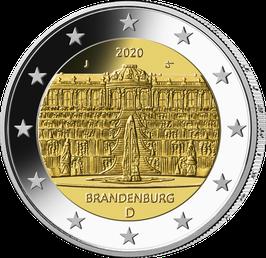 """2-Euro-Münze """"Brandenburg"""" Spiegelglanz Satz ADFGJ"""