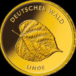 """20€-Goldmünze 2015 """"Linde"""" - Serie """"Deutscher Wald"""""""
