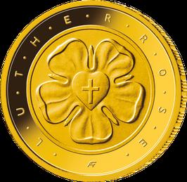 "50-Euro-Goldmünze ""Lutherrose"""