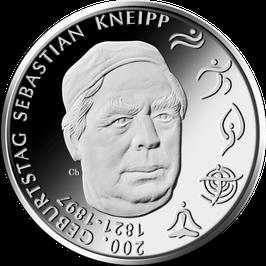 "20€-Silbermünze 2021 ""200. Geburtstag Sebastian Kneipp"" Spiegelglanz"